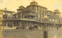 Atlântico Hotel, na Ana Costa com a praia com o aspecto que apresentava antigamente